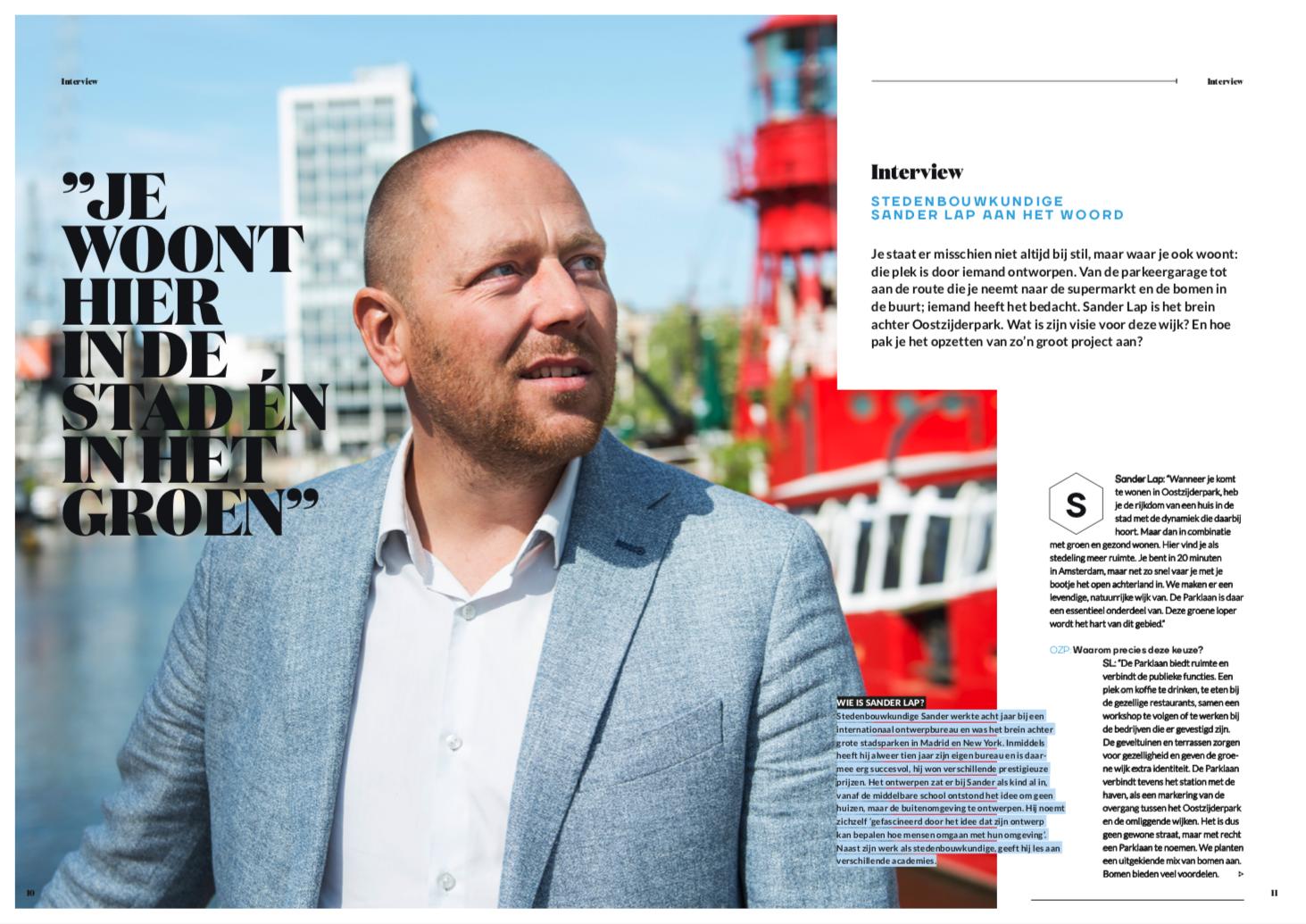 Oostzijderpark Magazine Sander